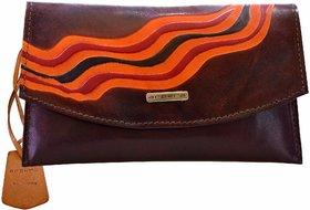 Arpera 3 In 1 Genuine Leather Agni Brown Ladies Purse 8