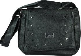 Spero Womens Stylish Zip Lock Casual Black Handbag