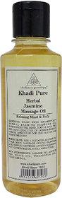 Khadi Pure Herbal Jasmine Massage Oil - 210ml