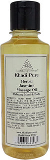 Khadi Pure Herbal Jasmine Massage Oil - 210ml