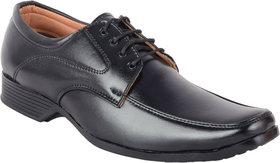 ShoeAdda Men's Black Lace-up Derby Formal Shoes