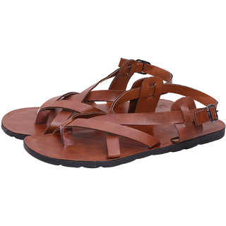 Butchi Men's Tan Multistrap Sandal