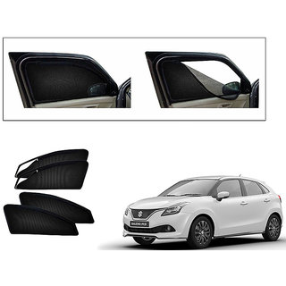 Autonity Magnetic Zipper Curtain Car Sunshades Set Of 4-Maruti Suzuki New Baleno