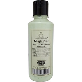 Khadi Pure Herbal Aloevera Moisturizer - 210ml