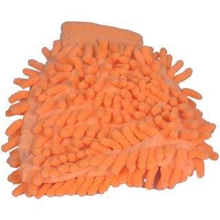 Microfiber Cleaning Gloves Super Mitt - Orange