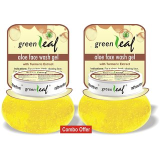 Green Leaf Face Wash Gel - Pack of 2