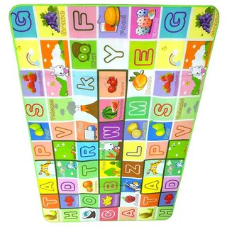 BcH 100 Waterproof, Anti-Skid, Double Sided Baby Play  Crawl Mat (6X4 Feet) with a FREE CARRY BAG.