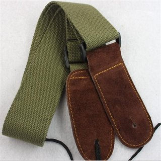 Aeoss Adjustable Guitar Strap for Folk / Acoustic / Electric Guitar Frosted Tip Cotton Material Green