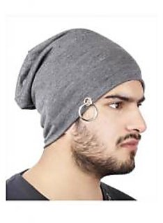 NEW Men Beanie Baggy Slouchy cap hat with Ring thin winter/fall Hat