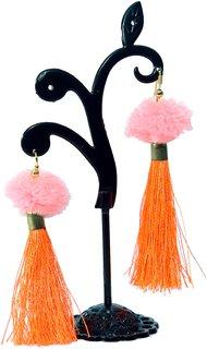 Handmade Silk Thread Earings