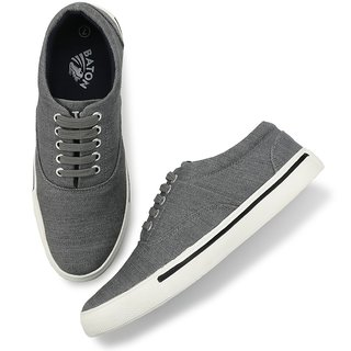 Baton Men's Gray & White Lace-up Sneakers