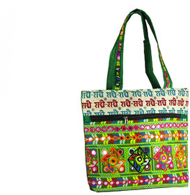 Spero Ethnic Embroidery Mirror Work Shoulder Bag with Free Shipping