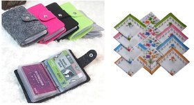 Combo Of 1 Card Holder Wallet And  2 Ladies Handkerchief