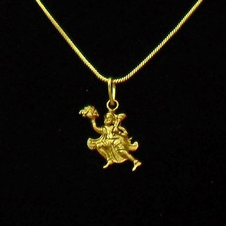 Lord Hanuman Gold Plated Religious God Pendant with Chain for Men  Women by Beadworks