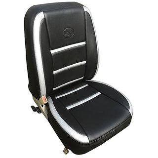 Bardi PU Leather Car Seat Covers Black And Light Grey
