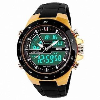 Skmei Black PU Digital Watch for Men 6 MONTH WARRANTY