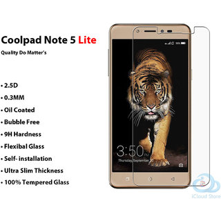 COOLPAD NOTE 5 Lite       Ultra Flexible Premium Quality 2.5D Tempered Glass