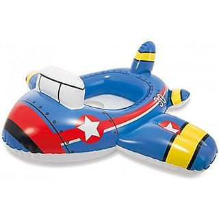 Skywalk Intex Kiddie Inflatable Swim Pool Water Float Ring Cruiser Jet Plane Shape For Ages 1+