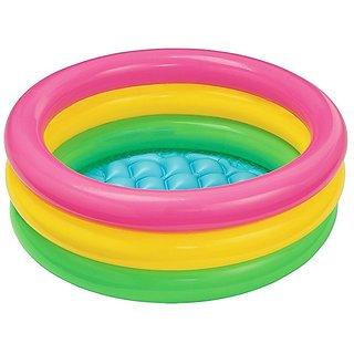 Intex Inflatable Baby Pool Multi Color (3-feet)