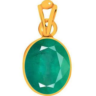 Divya Shakti 4.25 - 4.50 Ratti Emerald Pendant / Locket ( PANNA Stone Panchadhatu Pendant ) 100% Original AAA Quality Gemstone