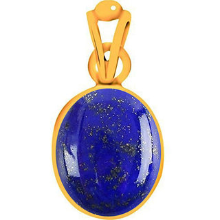 Divya Shakti 4.25 - 4.50 Ratti Lapiz / Lapis Lazuli Pendant / Locket ( Lajward stone Panchadhatu Pendant ) 100% Original AAA Quality Gemstone