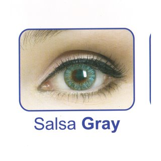 Celebration Yearly Disposable color Contact lens plano (2 lens per BOTTLE) Salsa Grey