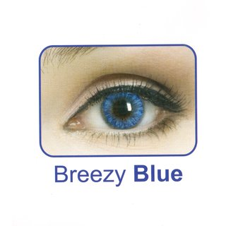 Celebration Yearly Disposable color Contact lens plano (2 lens per BOTTLE) Breezy Blue