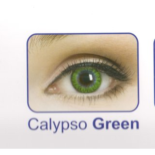 Celebration Yearly Disposable color Contact lens plano (2 lens per BOTTLE) Calypso Green