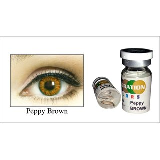 6%off Celebration Yearly Disposable color Contact lens plano (2 lens per  BOTTLE) Peppy Brown 1c5c9f3f7ce