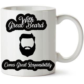 Respect Beard Gift Mug For Boys  Ceramic Beardo Mug Discount89