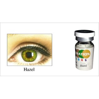 Celebration Yearly Disposable color Contact lens plano (2 lens per BOTTLE) Honey Allure
