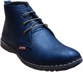 Bicaso Blue Charanpaduka Boot's Lace up