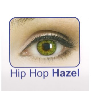 Celebration Yearly Disposable color Contact lens plano (2 lens per BOTTLE) hip hop hazel