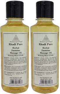 Khadi Pure Herbal Jasmine Massage Oil - 210ml (Set of 2)