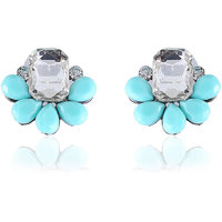 Firstloot Sassy Fancy Earrings In Sky Blue & White Colour