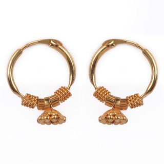 Beadworks Gold Plated Brass Stylish, Traditional Jhumki Style Earrings for Women