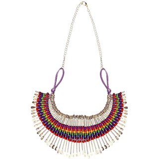Meia Gold Plated Multicolor Alloy Necklace Set For Women