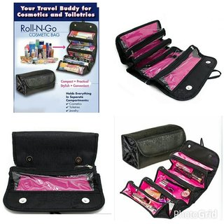 Right Traders Roll N Go Black Cosmetic Bag ( pack of 1 )