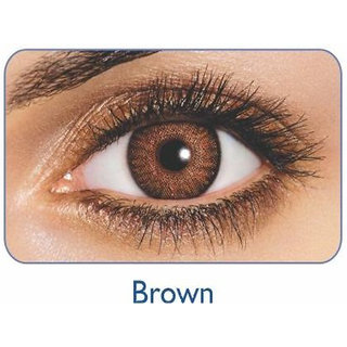 Freshlook Monthly Disposable color Contact lens plano (2 lens per box) Brown