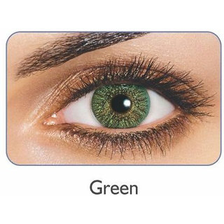 Freshlook Monthly Disposable color Contact lens plano (2 lens per box) Green