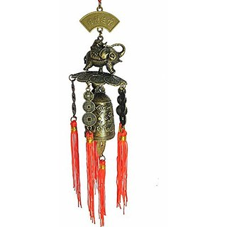 Feng Shui LUCKY ELEPHANT BELL CAR  HOME HANGING FOR GOOD LUCK AND PROSPERITY