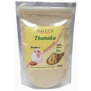 Haley's Natural Thanaka powder Grade A 100gm for permanent hair removal