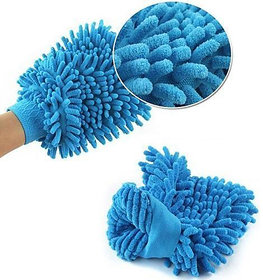1Pcs SET Double Sided Micro fiber Premium Wash Mitt Gloves