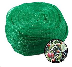 SAHAYA Anti Bird Net 6 FT X 10 FT(60 Sq Ft) Green  High Quality THIN Plastic Agro Net with 30 pcs Plastic cable Clips