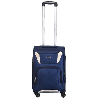 Times Bags Stylish Hard Shell Expandable 20 Inches Blue Color Trolley Bag HH13012 Cabin Luggage - 20 Inches