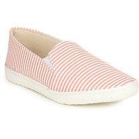 Do Bhai Women's Pink Slip On Sneakers