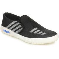 Do Bhai Men's Black Slip On Sneakers