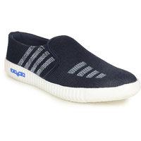 Do Bhai Men's Blue Slip On Sneakers