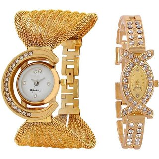 TRUE COLORS GLORY GOLDEN COMBO DEAL Analog Watch - For Women