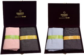 Raymond Makers Unstitched Fabric for Shirt & Trouser in Velvet Box Pack of 2
